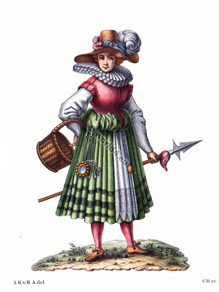 Costume of a sutler in the transition from the 16th to 17th century