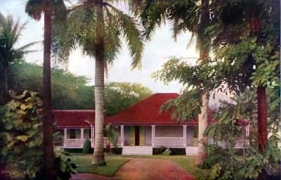Suburbs Honolulu. Oahu Hawaii. American colonialism. Hawaii House