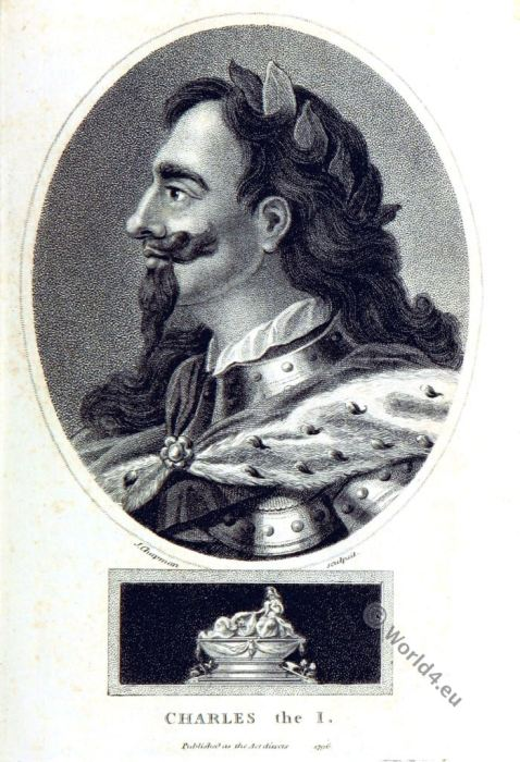 Charles I. Stuart. King of England. 17th century nobilty