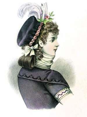 Coiffure Galante. French revolution. 18th century fashion. Dirctoire. Merveilleus.