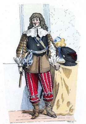 Gaston d'Orléans. Histoire de la mode baroque. 16ème siècle costume militaire.