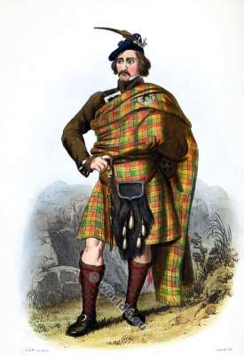 Silo Auslanich - Clan Buchanan. Tartan. Scotland national costume. Clans of the Scottish Highlands.