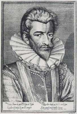Henri de Lorraine, Du de Guise. Le Balafré. 16th century. Baroque fashion history. French nobility. Huguenot war.