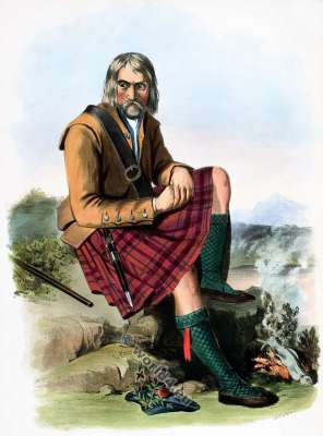 Clann Pharlain. The Mac Pharlans. Clan. Tartan. Scotland national costume. Clans of the Scottish Highlands.