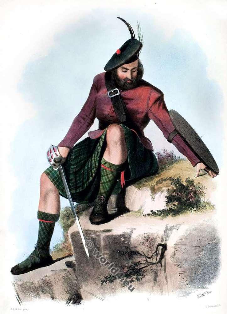 Siol Mhorgan No Clann Aodh. The Makays. Clan. Tartan. Scotland national costume. Clans of the Scottish Highlands.