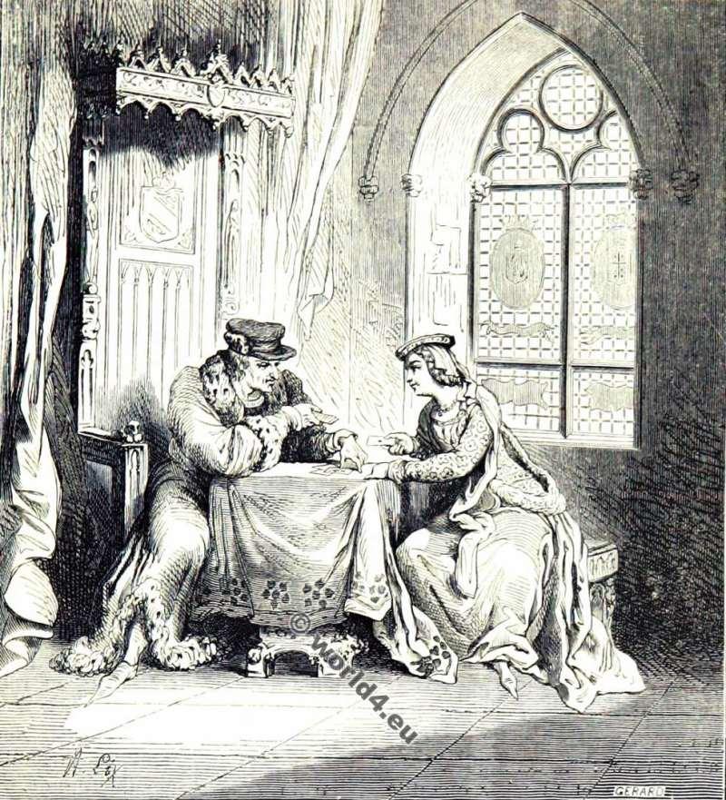 Odette de Champdivers, La Petite Reine, Maîtresse, Charles VI, mode,moyen âge, Vêtements,14ème siècle,