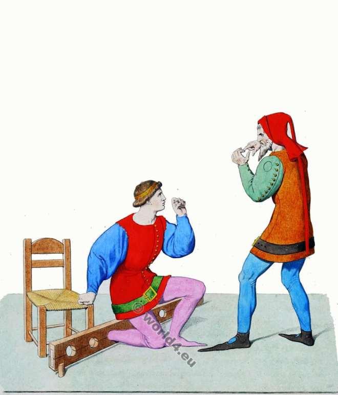 Torture, Moyen Age, Italie, vêtements, 13ème siècle,