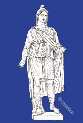 God Mithras. Mithra. Zoroastria angelic Divinity. Roman empire. Ancient costume. Roman sculpture.