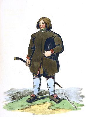 Peasant Dalarna, Sweden. Traditional national costume. Scandinavian folk dress. Dalecarlia.