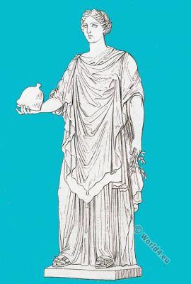 Minerva Pacifica. Roman empire. Ancient costume. Roman sculpture.