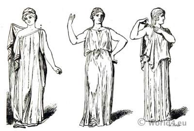 Specimen artistic Greek dress. Ancient Greek costume.
