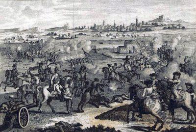 Battle. Worcester. Oliver Cromwell. England Civil Wars.
