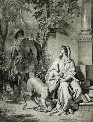 Don Manuel. Beatrice. The Bride of Messina. Friedrich Schiller. German Romantic.