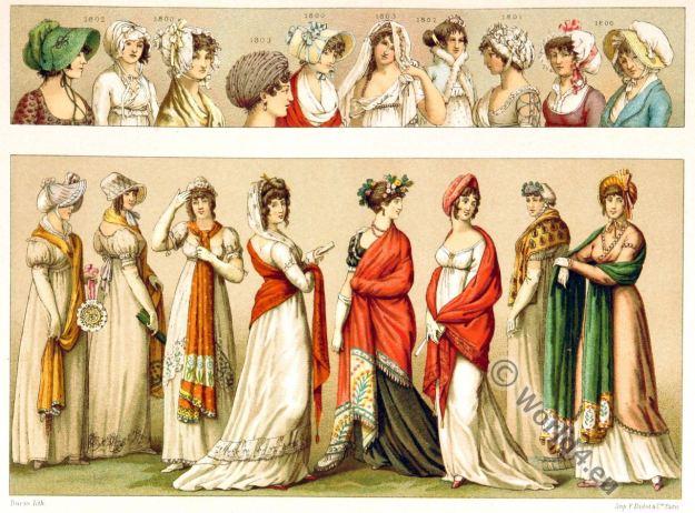 Empire fashion. headgear.
