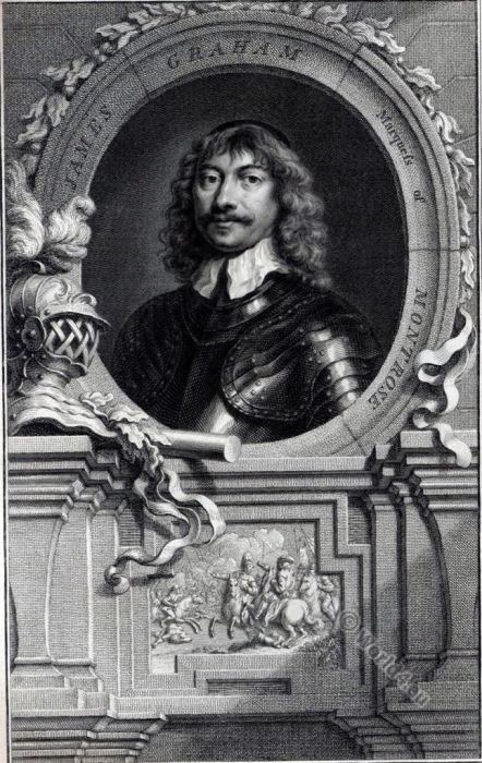 James Graham Marquess of Montrose Magnificent. England civil war. Nobility. 17th century.