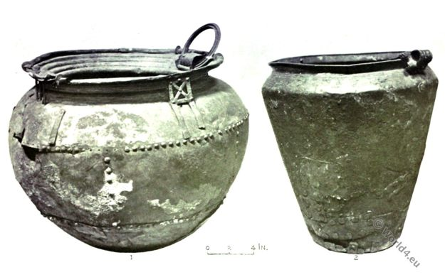 Bronze Age, Bronze Cauldron, Urn, Ancient Britain, Antiquities