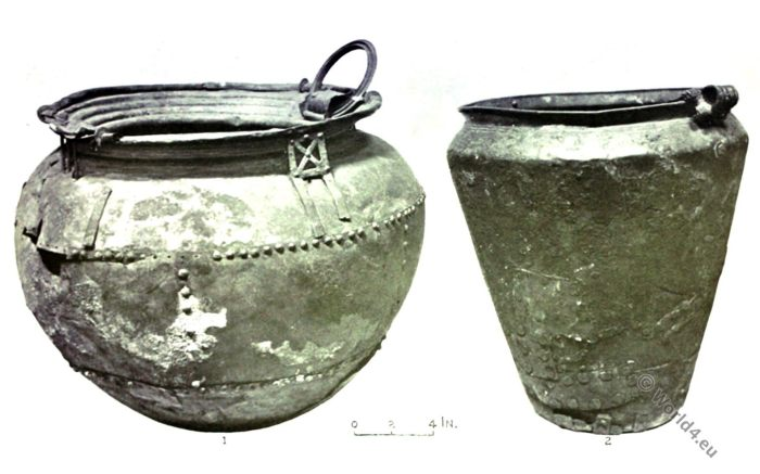 Bronze Age, Bronze Cauldron, Urn, Ancient Britain, Antiquities