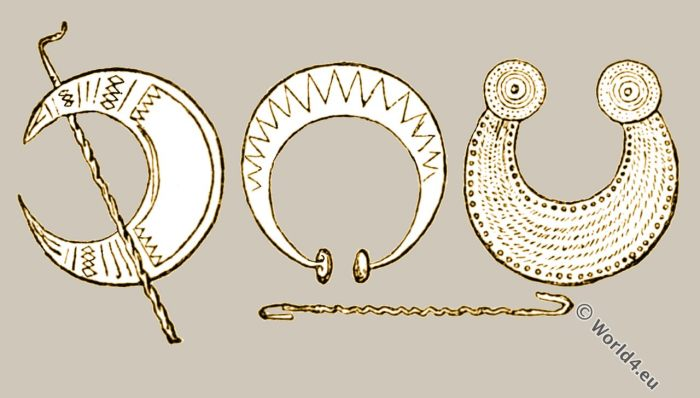 Druidical ornaments. Druids. British History. Celtic. Celts. England Priesthood.