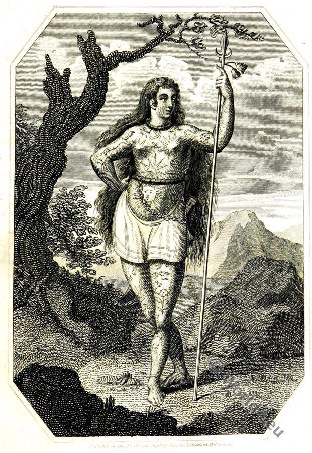 Ancient female Briton, Celt, celtic, england, history, costume, tattoo