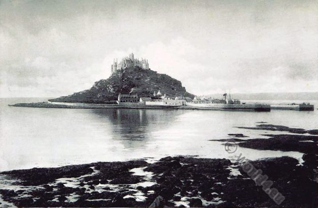 St Michael's Mount. Cornwall. Medieval. England Castle