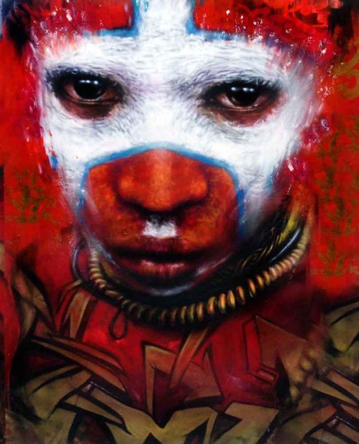 African, Makeup, Make up, Graffiti, London, Brick lane, Artist, Dale Grimshaw, tribe