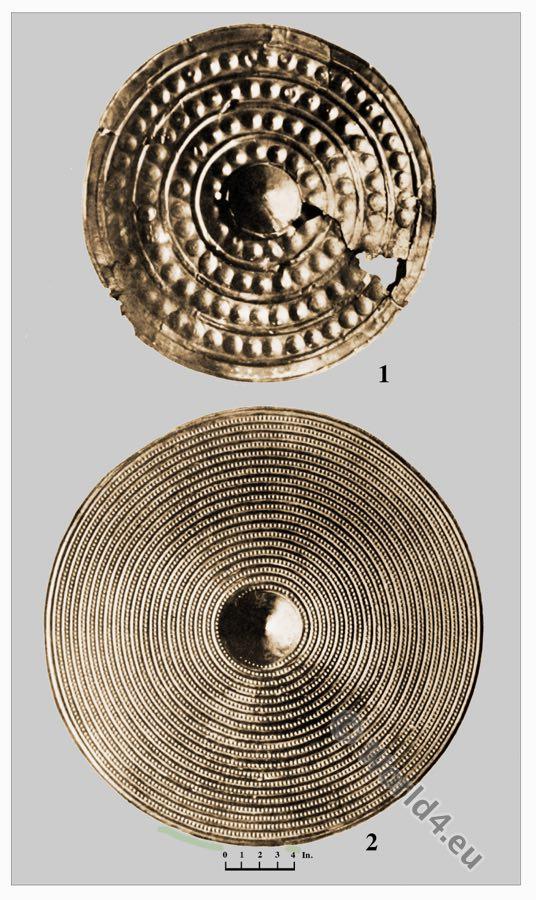 Bronze Bucklers, Thames,Wales,Bronze Age,British Antiquities, Celts