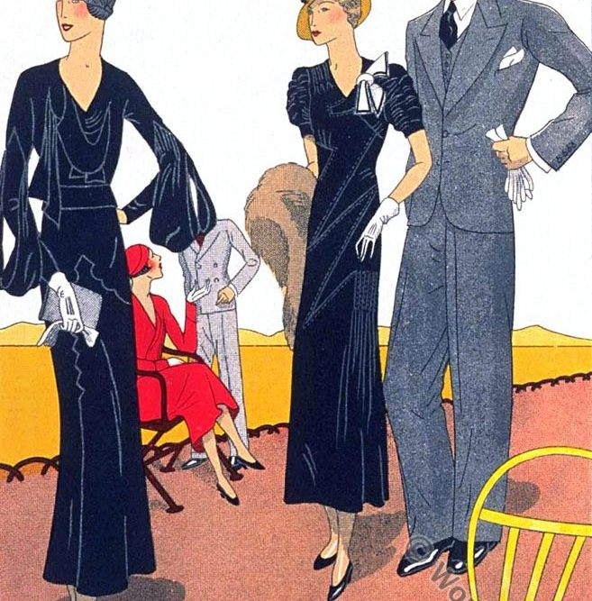 Bernard & Cie, Ardanse, haute couture, france, art-deco fashion