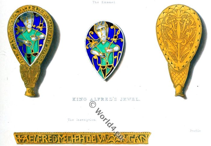 King Alfred, Saxon, Anglo-Saxon, Ring, Jewelery, England, Middle ages