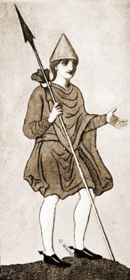 Saxon mantle, Anglo-Saxon, costume, history, England medieval fashion