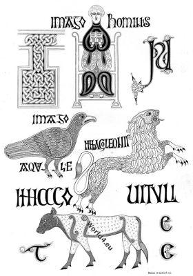 Calligraphy, 10th Century, Anglo-Saxon, latin bible