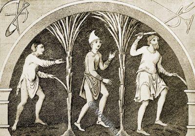 Rustics, Saxon, Anglo-Saxon, costume, history, England