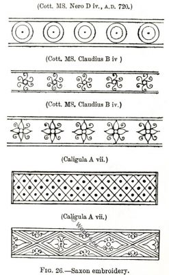 Saxon embroidery, Anglo-Saxon manuscript, costume, history, England medieval fashion