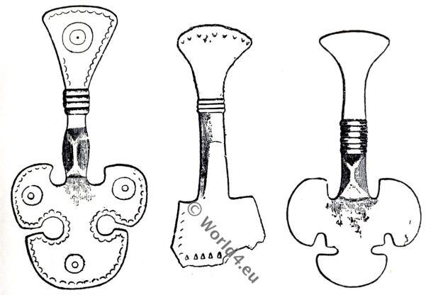 Saxon fibulae, Anglo-Saxon manuscript, costume, history, England medieval fashion