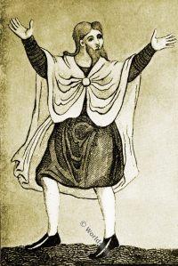 Saxon mantle. Anglo-Saxon, costume, history, England medieval fashion