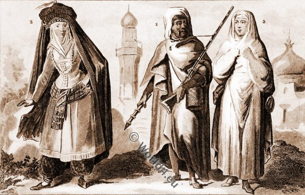 vêtements traditionnels. Arabe, Médine, femme, Mecque, Médine