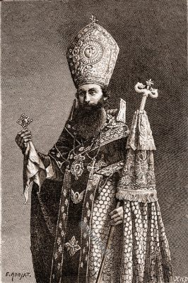 Armenian bishop, Djulfa, costume, Azerbaidjan