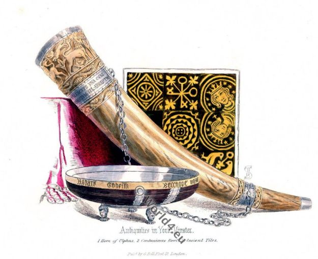 Viking Horn, Ulphus 11th century, England Norman