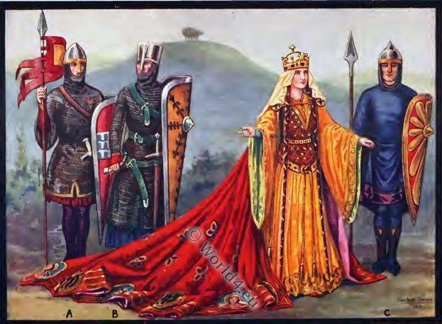 Empress Matilda, female regent, England, history, Middle ages costumes