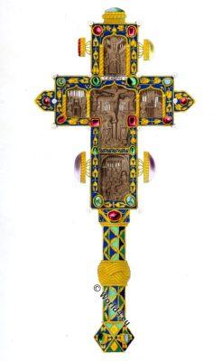 Byzantine Cross, Mount Athos, Henry Shaw,Christian,monasterie,Caracalla, Byzantine art