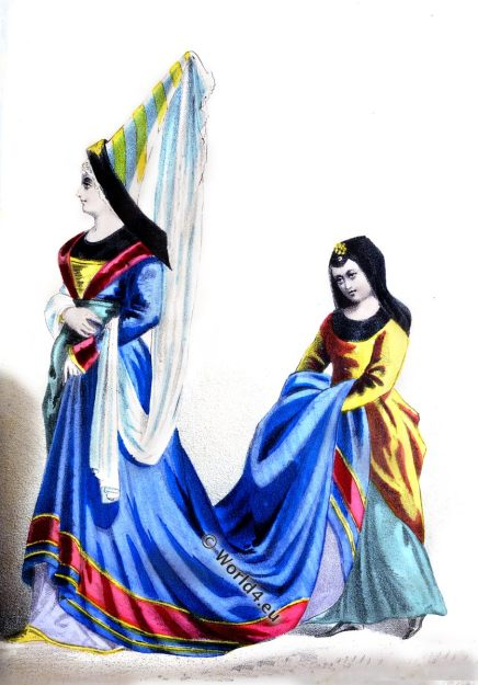 French lady, middle ages, nobility, burgundian,fashion,medieval, hennin, costume