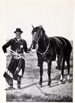 Argentine Gaucho, costume, dress, traditional, chiripa,over-trousers, bolas