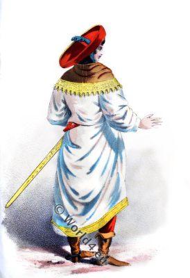 German noble costume,renaissance,15th century, dress,clothing,sword, sword-belt