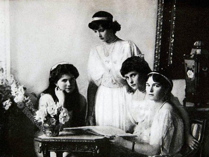 Grand Duchesses, Grand Duchess, Romanov, Russia, Maria, Tatjana, Anastasia, Olga, Nikolaevna Romanova,