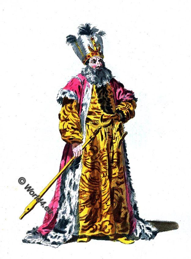 Turkish Sultan, Ottoman Empire, Costume history