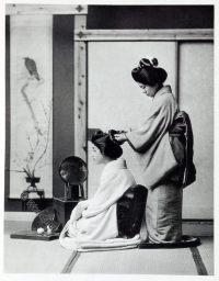 Hair-dressing, Japan, historical, Kazuma Ogawa, Photographer,