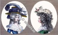 French, Coiffure, 18th century, Cabinet des Modes, rococo fashion history