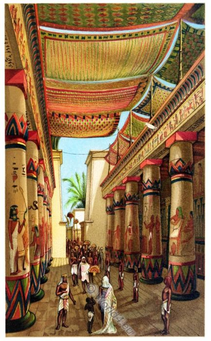 Egyptian, Nomarch, Hall, ancient, architecture, egypt