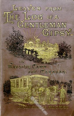 camping, book cover, gentleman gipsy, William Gordon Stables, caravan