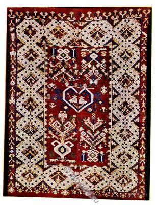 carpet, rug, blanket, peasant, Abruzzi, Italy, Albert Sautier