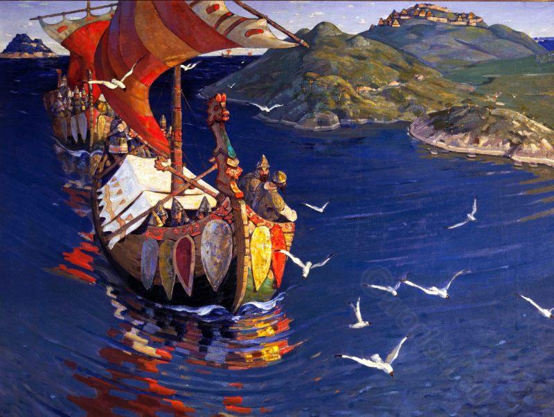 Nicholas Roerich, Vangarians, Viking, Art, Russia